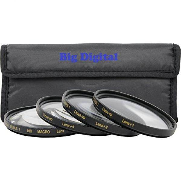 58mm Macro Close-Up Filter set +1 +2 +4 +10 with Pouch for Canon EOS Rebel T6 T6s T6i SL1 T5 T5i T4i T3 T3i T2i T1i XSI XS XTI XT 80D 70D 60D 60Da 50D 40D 30D 20D 10D 7D