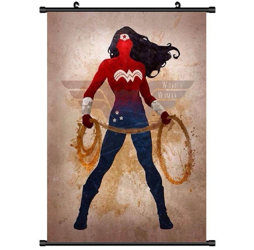 1 Pcs 20X30 Cm Anime Super Hero Film Wonder Woman Scroll Painting Poster Home Dinding Cetak Dekorasi Seni Modern Poster -Intl