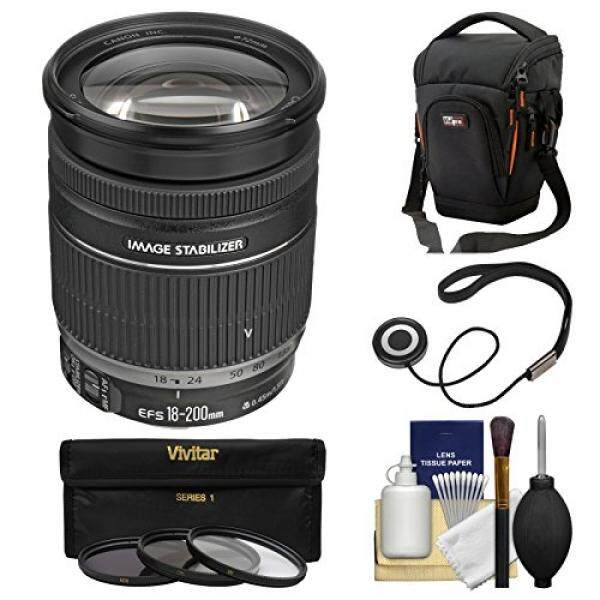 Canon EF-S 18-200mm f/3.5-5.6 IS Zoom Lens with Case + 3 UV/CPL/ND8 Filters + Kit for EOS 7D, 70D, Rebel T3, T3i, T5, T5i, SL1 DSLR Cameras