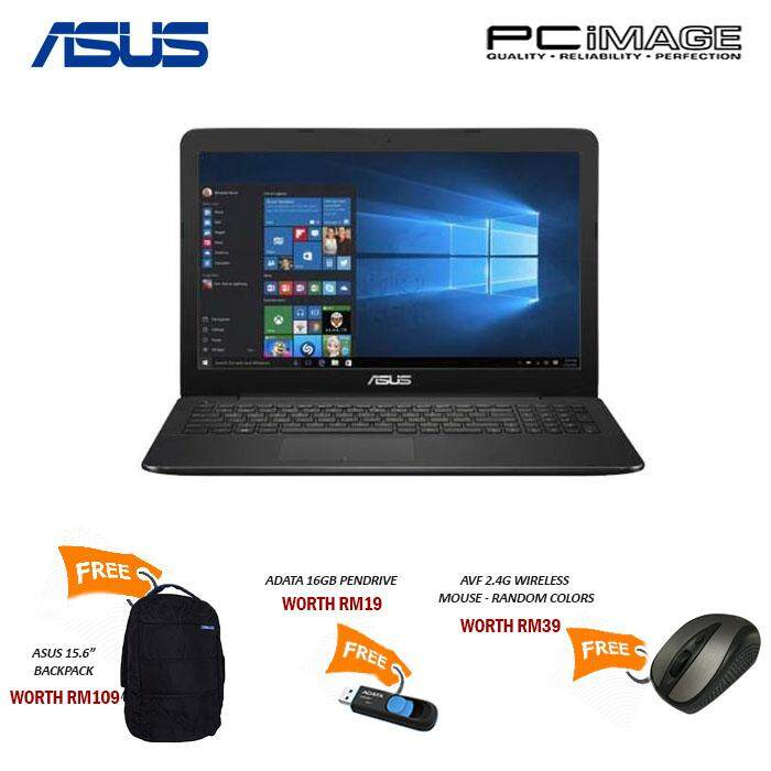 ASUS X555B-PXO098T NOTEBOOK/AMD A9-9420/500G+128G SSD/4G/DL/WIN10-BLACK Malaysia