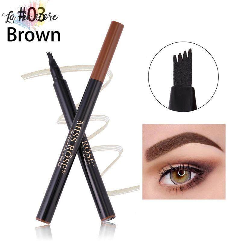 La vis Microblading Eyebrow Tattoo Pen Waterproof Fork Tip Sketch Enhancer Eye Brow Pencil Makeup Tool