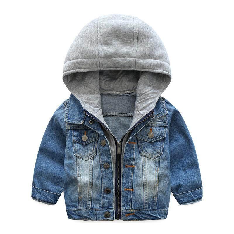 Musim Gugur Anak-anak Baru Pakaian Anak Laki-laki Dicuci Lembut Pakaian  Bertudung Jaket e08307c3bd