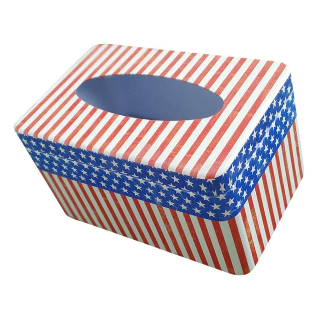 Dolity Tinplate Napkin Paper Holder Tissue Box Cover Dinning Decor Tableware #4