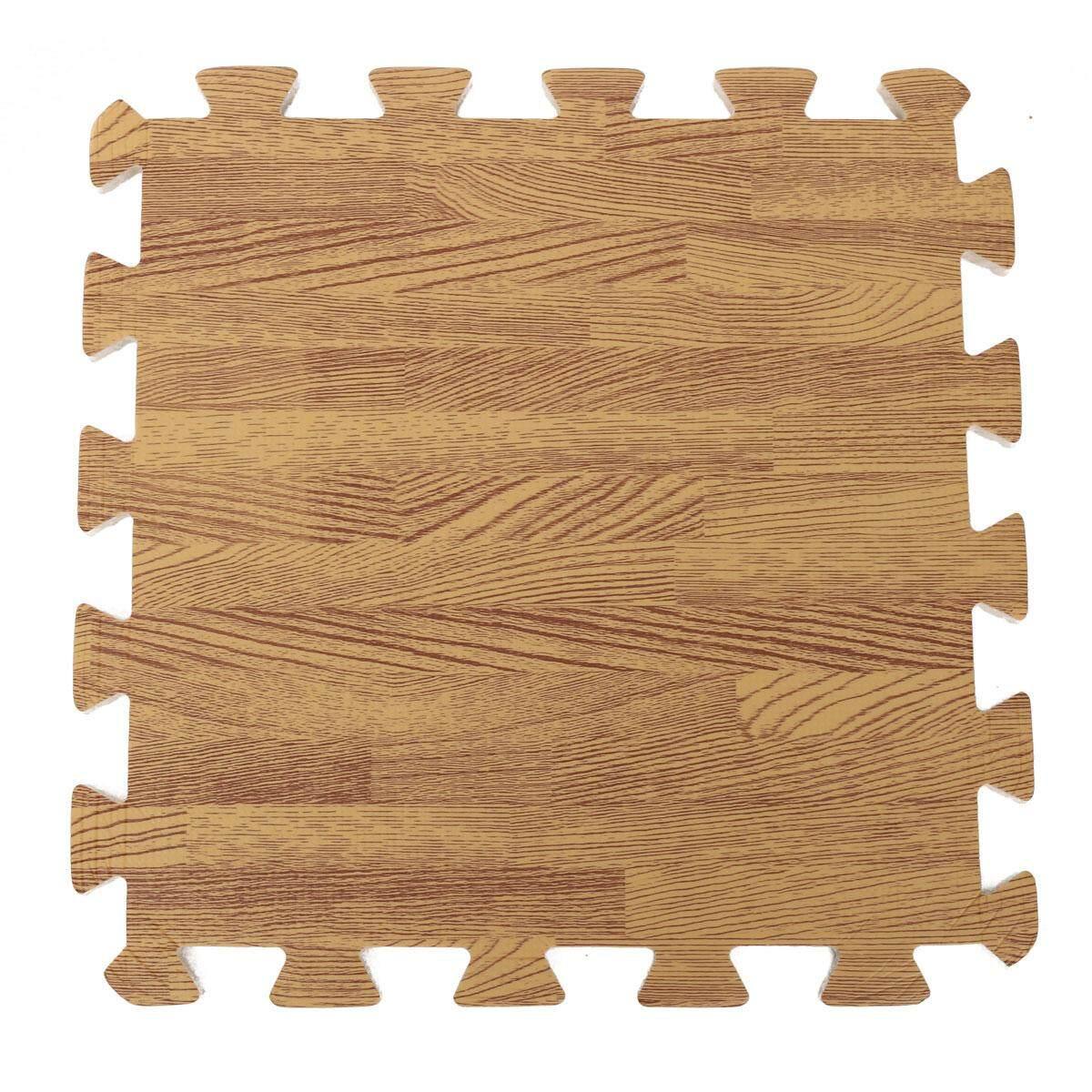 18pcs Wood Interlock Eva Foam Floor Puzzle Pad Work Gym Mat Kid Safety Play Rug By Glimmer.