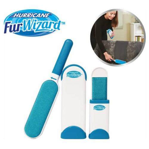 Hurricane Fur Wizard Pet Hair & Lint Remover Magic Cloth Fabric Brush Cleanning Color Blue