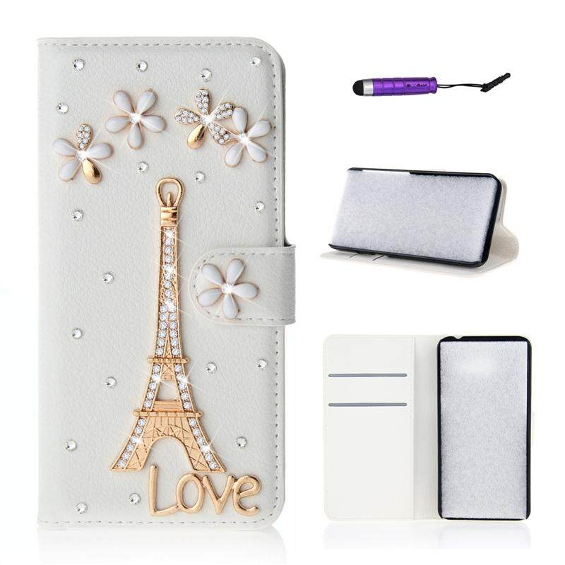 【 Harga 】 Seperti Beauty Luxury 3D Bling Mengkilap Intan Permata Tiruan PU Kulit Flip Penutup Tiang Dudukan Dompet Penyimpan Kartu dengan Magnetic Penutupan untuk nokia Lumia 1520
