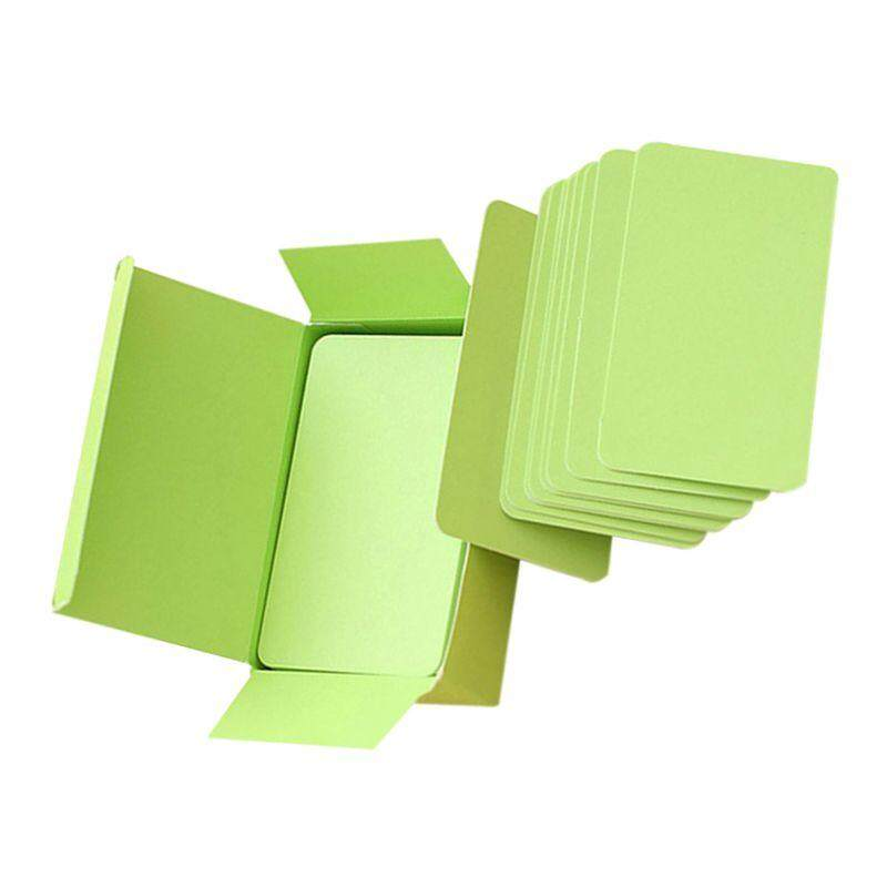 ... Blank Handwritten Paper Message Card Business Thank You Cards for Memo Wedding Party Greeting green -