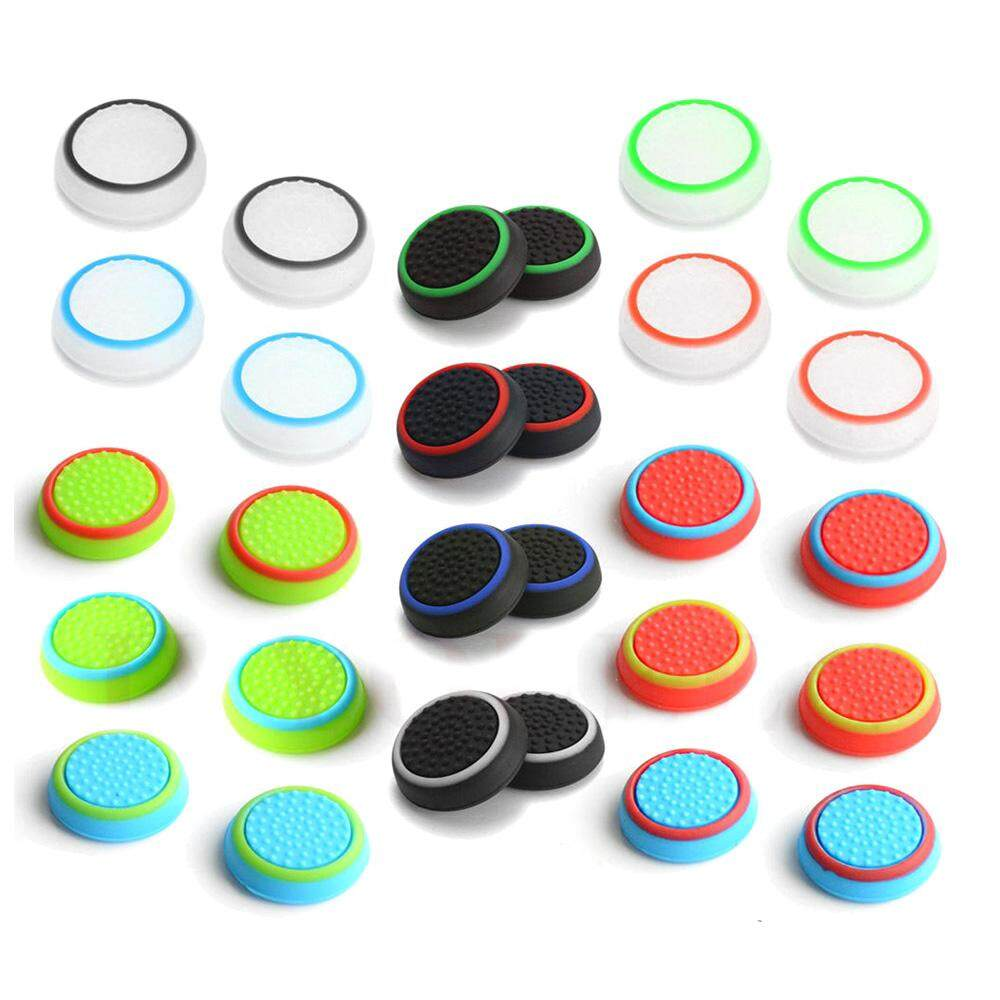 4 pcs Silicone Analog Thumb Stick Grips Cover for Playstation 4 PS4 Pro Slim for PS3