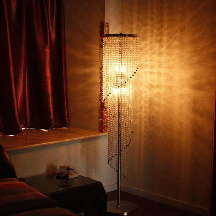 European luxury crystal floor lamp