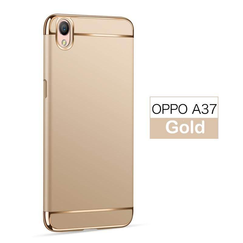 Untuk OPPO A37 Case, 3 In 1 Anti-Gores Shockproof Cover Menyepuh Dgn Listrik Frame dengan Permukaan
