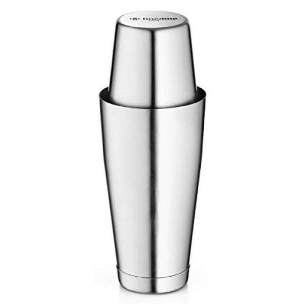 Cocktail Shakers FineDine Boston Cocktail Shakers, Stainless Steel Shaker Includes Unweighted 18 And 28 oz Weighted Tins For Chilled Cocktails With A Watertight Seal, Food Grade Stainless Steel Tupperware - intl