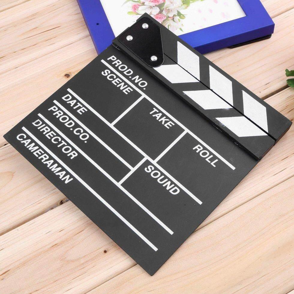Hadiah Director Video Scene Clapperboard TV Movie Clapper Board Film Slate Cut Sangga-Internasional