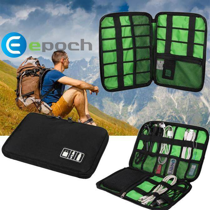 Waterproof Travel Electronic Accessories Cable USB Organizer Storage Bag Pouch.