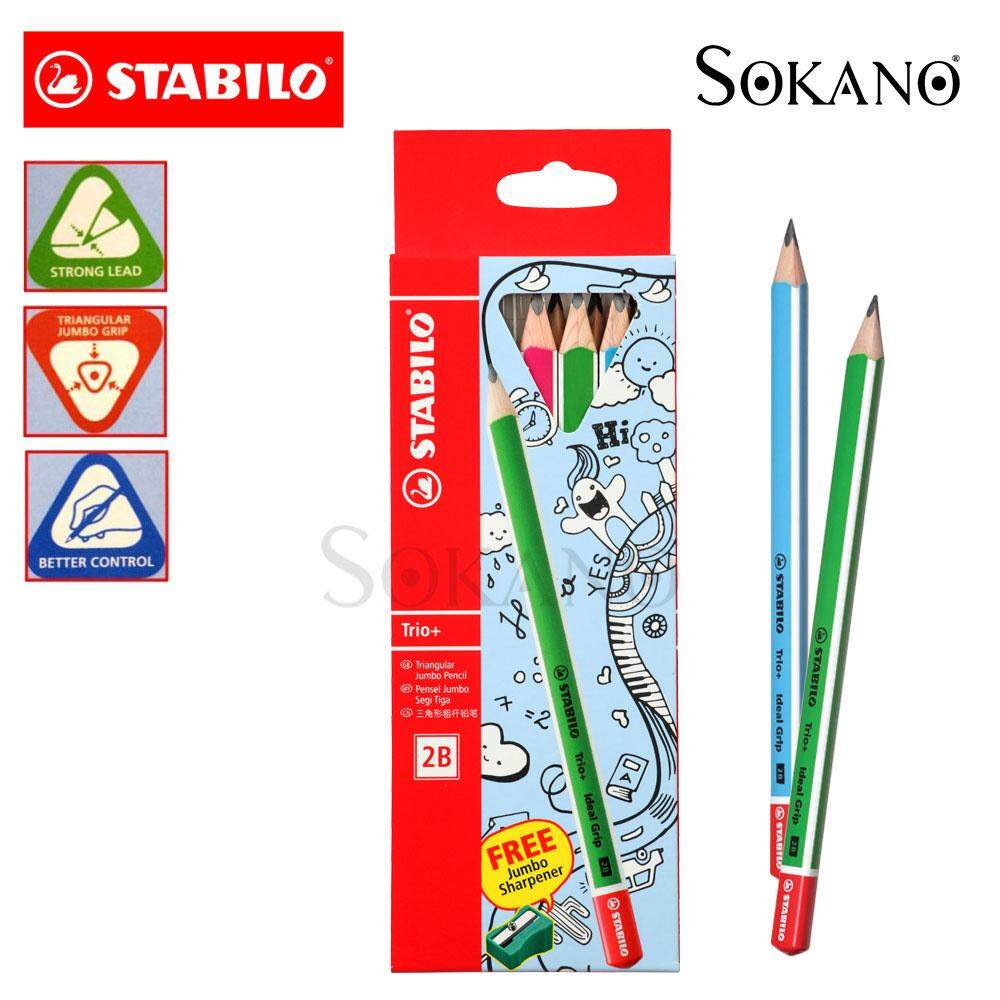 STABILO Trio+ Ideal Grip Jumbo 6pcs 2B Pencil (364/2B-6)