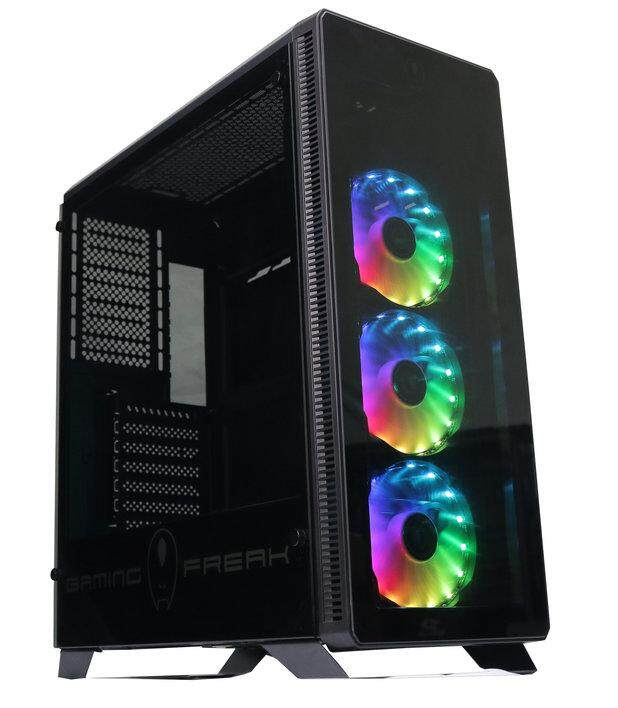 GamingFreak Aegis 850G Rainbow Tempered Glass ATX Gaming Casing Chassis Malaysia