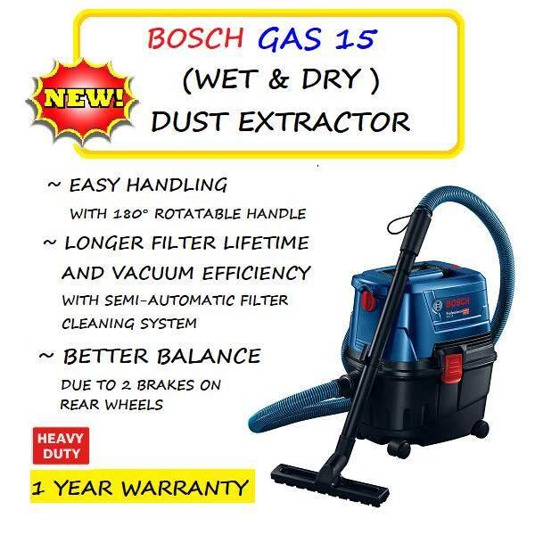 BOSCH GAS15 WET & DRY DUST EXTRACTOR
