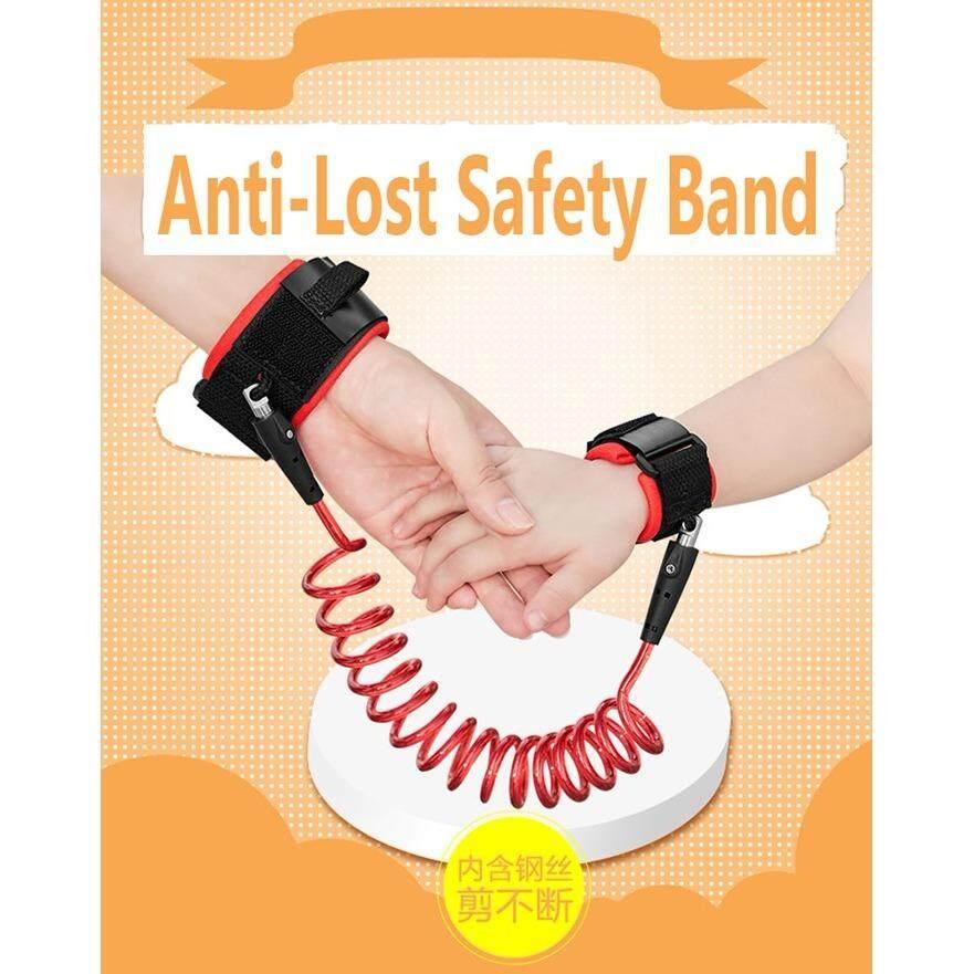 Adjustable Kids Safety Anti-lost Wrist Band Toddler Harness Leash Strap- Orange