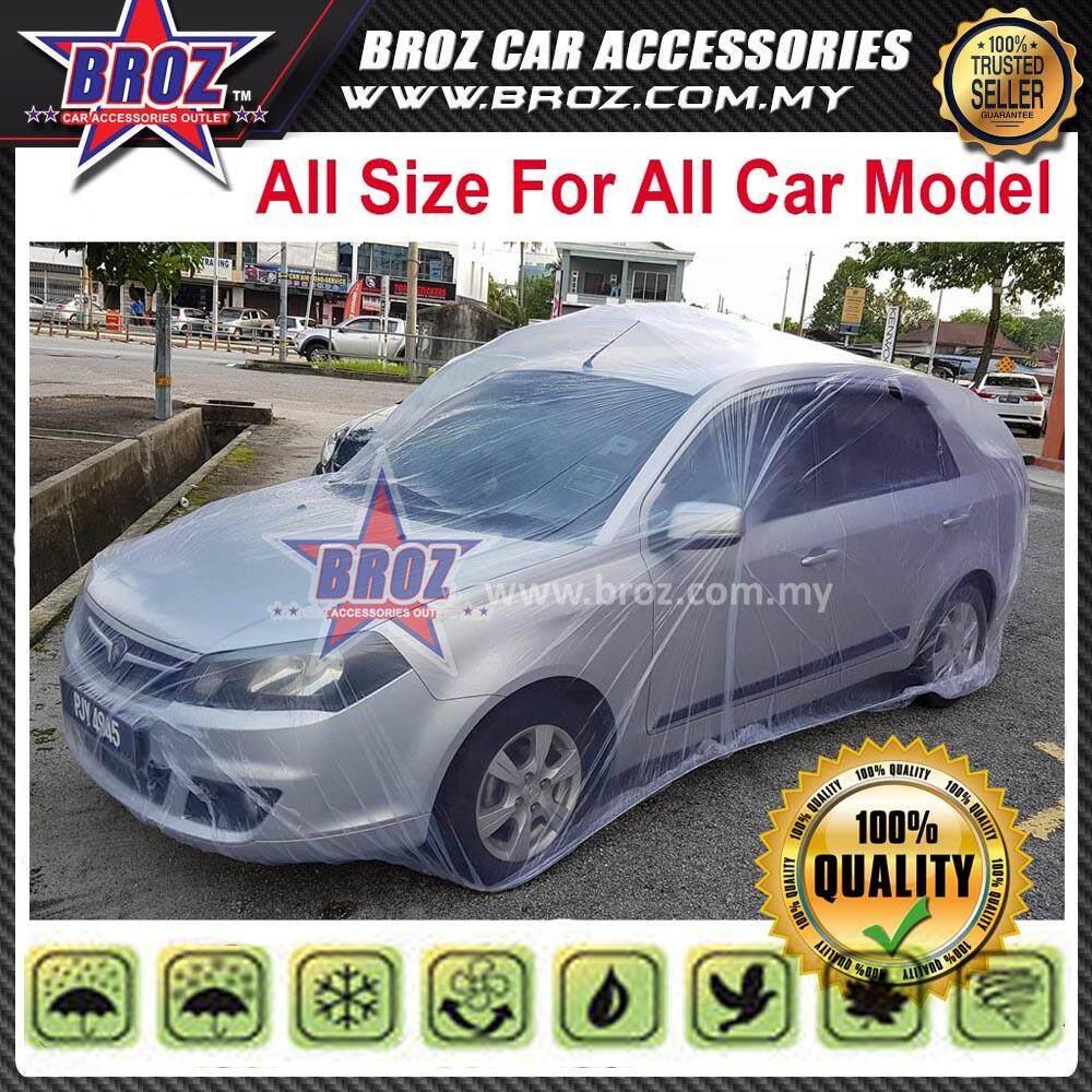 Universal PE Transparent Plastic Auto Car Covers - Size M L XL XXL SUV MPV