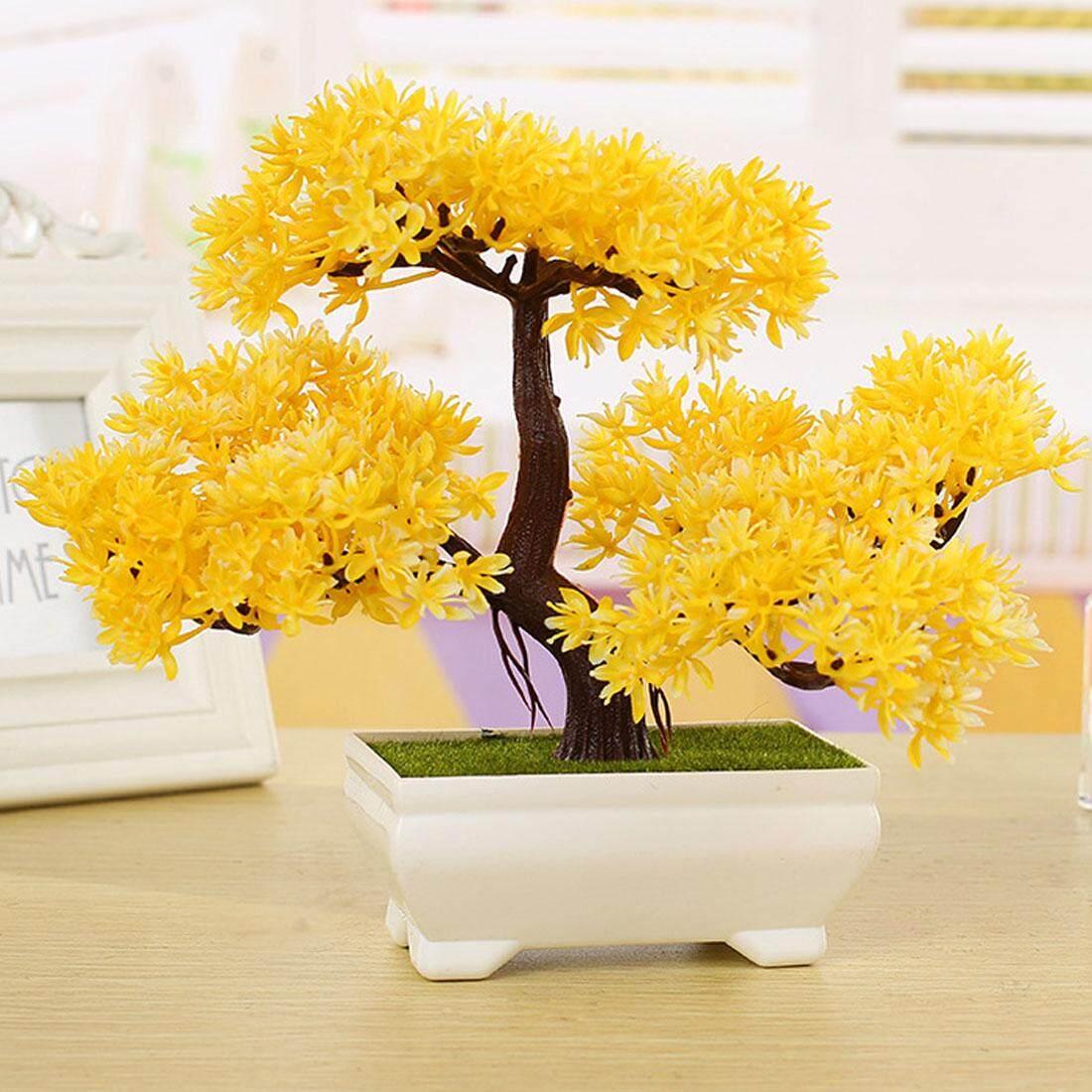 Mini Trigeminal Pinus Penyambut Kecil Pot Tanaman Bunga Buatan Kecil Bonsai untuk Dekorasi Rumah Festival-