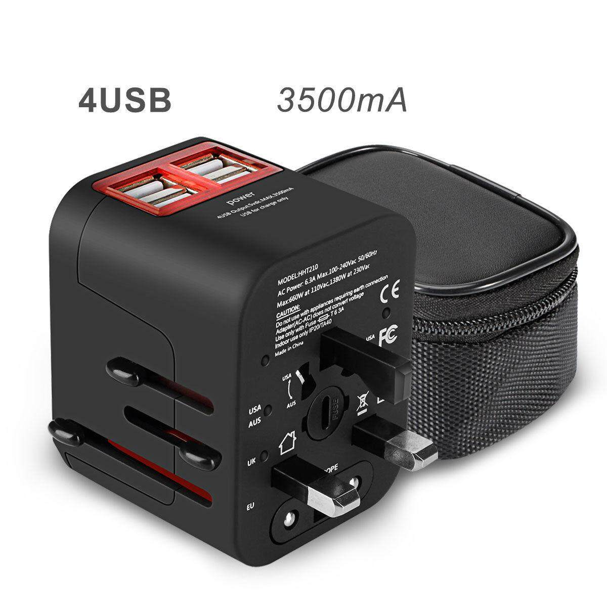 Travel Adapter For Sale Sockets Online Brands Prices Ac 100 240v To Dc 9v 1a Switching Power Supply Converter Eu International Worldwide Charger With 4 Usb Ports Converters