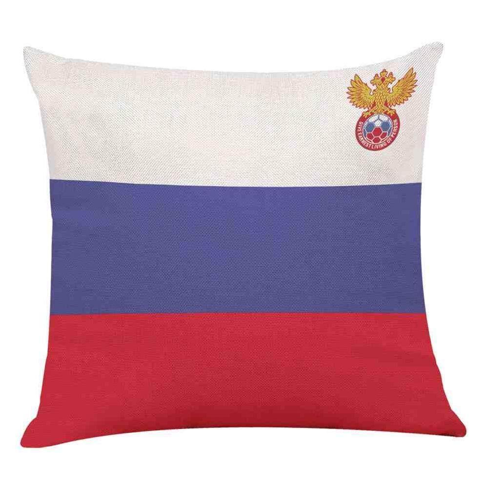 Tinggal 2018 Rusia Piala Dunia Sarung Bantal Rumah Sepak Bola Sarung Bantal Sarung Bantal Hadiah untuk Penggemar Piala Dunia Custom-Intl