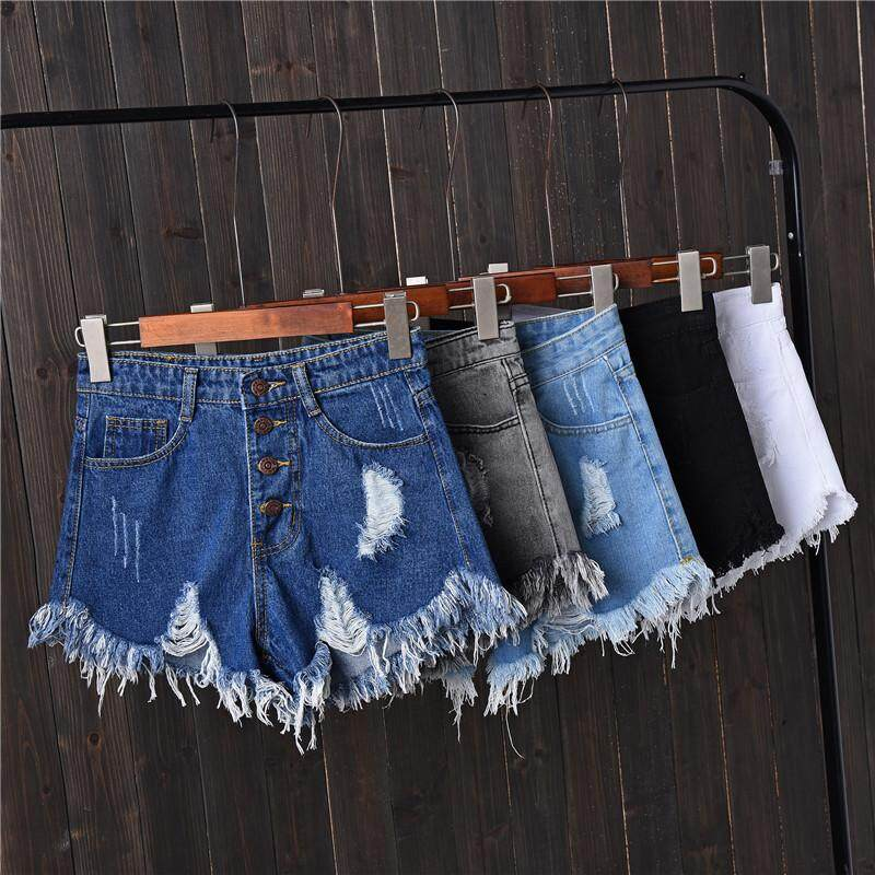 Useful New Arrival Casual Summer 2019 Hot Sale Denim Women Shorts High Waists A-lined Leg-openings Black Sexy Short Jeans Women's Clothing Bottoms