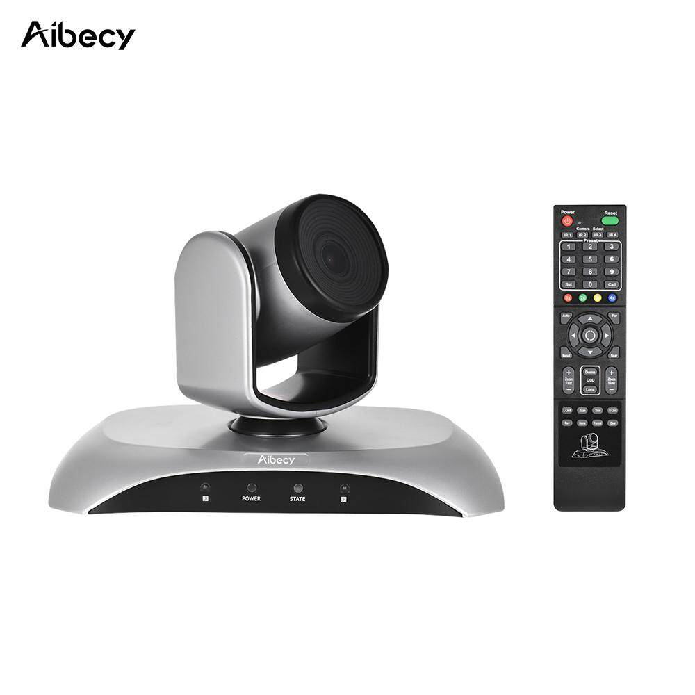 Aibecy 1080P HD Conference Camera USB Plug & Play 3X Zoom 360� Rotation with Remote Control Power Adapter for Video Meetings Training Teaching - intl