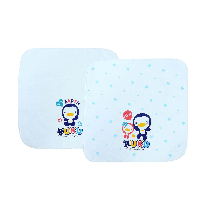 Puku Baby Gauze Handkerchief 30*30cm (Blue) 2pcs