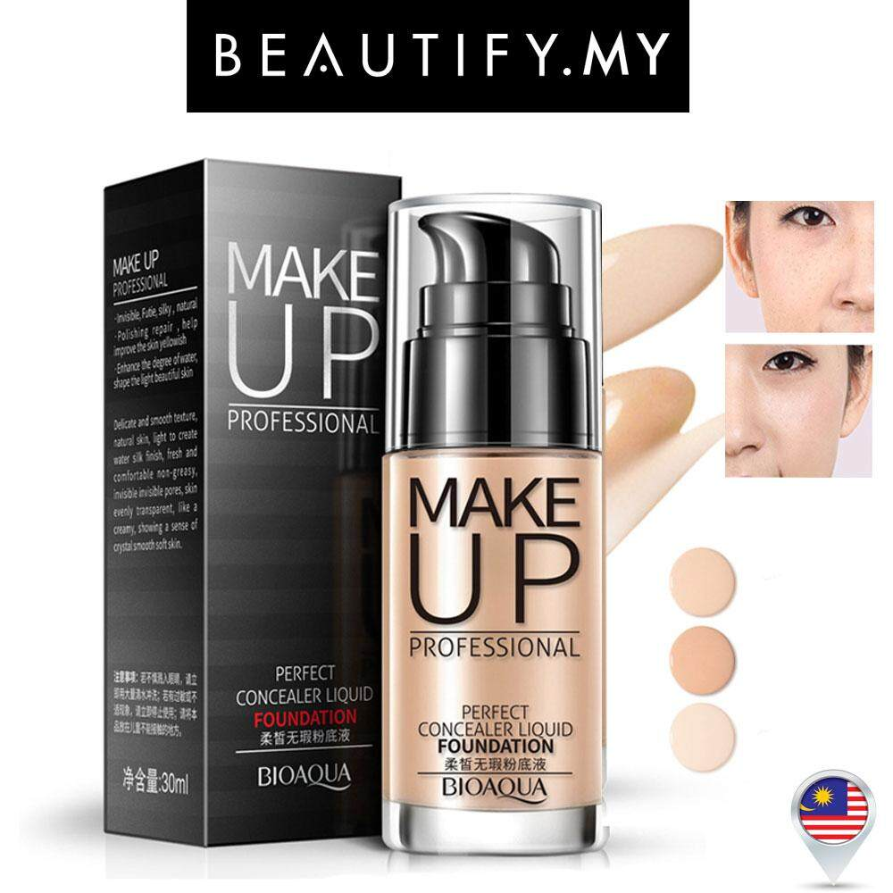Makeup Foundation For The Best Price In Malaysia Bedak Pac Bioaqua Make Up Professional Perfect 3 Color To Choose