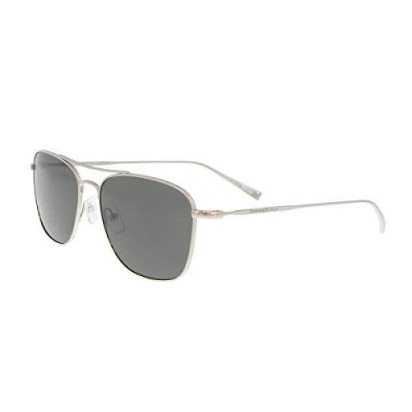 Ermenegildo Zegna EZ0032/S 14D Silver Aviator Sunglasses