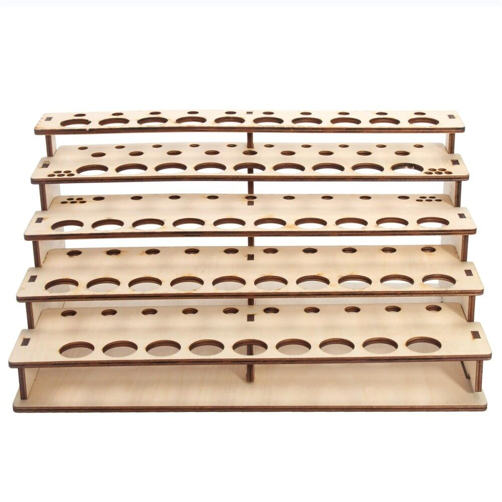 48 Pots Wooden Color Paint Bottle Storage Rack Stand Holder Organizer Model Tool