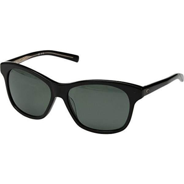 Costa Unisex Sarasota Shiny Black Frame/Gray 580g One Size - intl