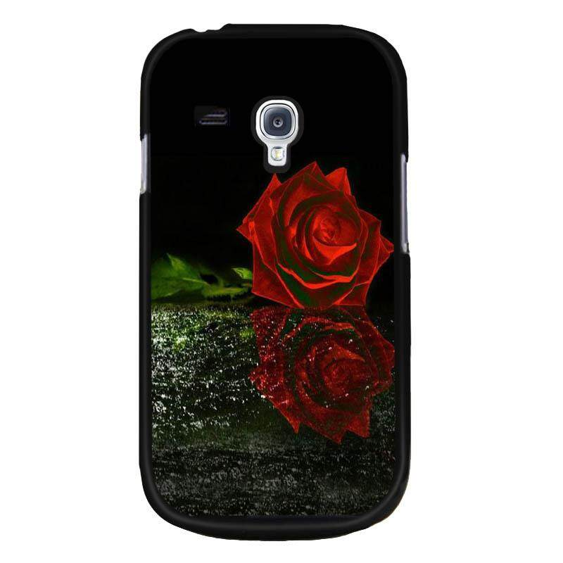 Young Fashion Hot Sale Rainy Day Big Red Rose Pattern Phone Case For Samsung Galaxy S3(Multicolor)