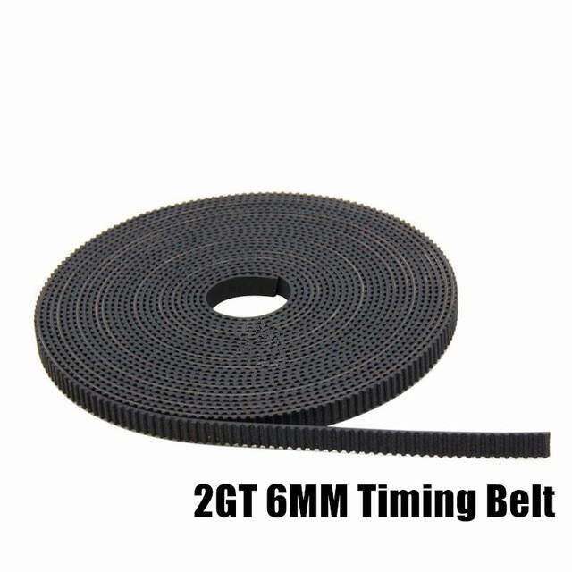 GT2 Timing Sabuk Lebar 6 Mm Karet 2 GT-6 Mm Digunakan Di Linear Mendorong Kecil Backlas untuk 3D printer