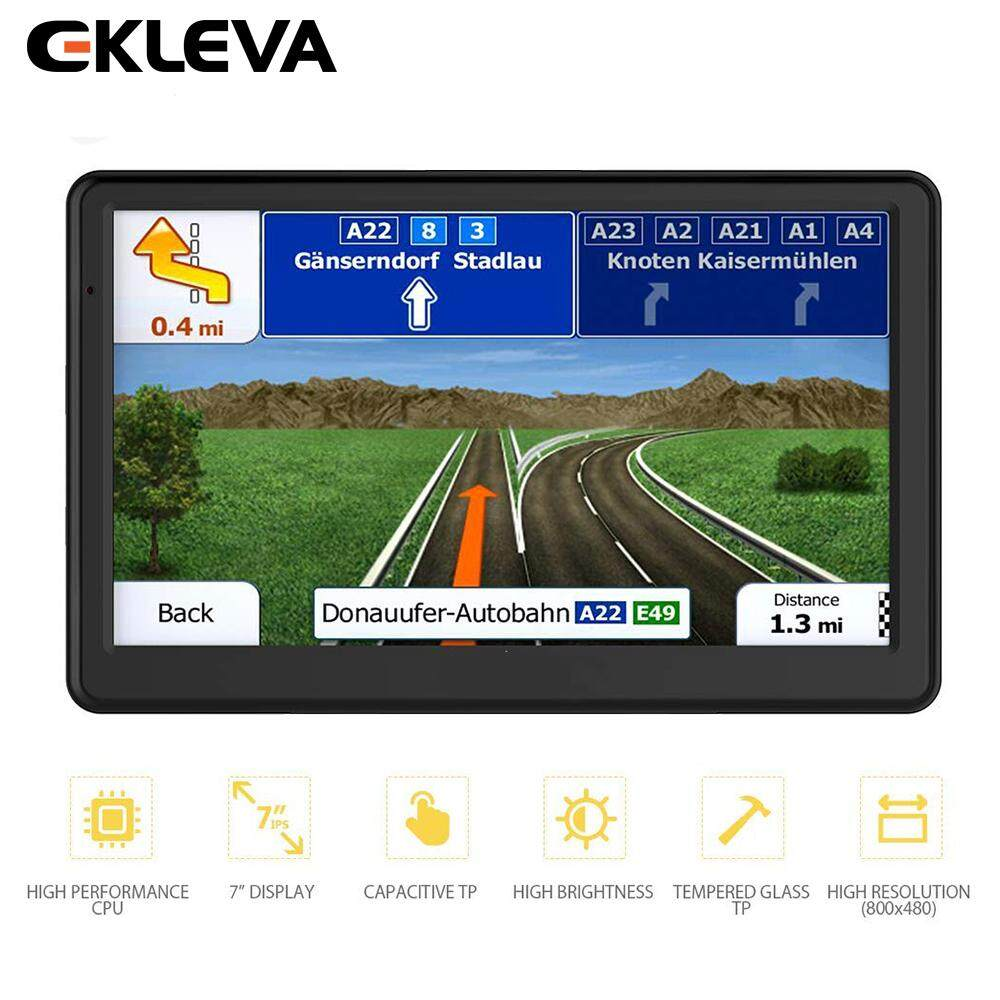 Ekleva Gps Navigation For Car Sat Nav Navigator Lifetime Maps 7 Inch Vehicle Gps Capacitive Touchscreen Built-In 8gb Fm Mp3 Mp4 By Ekleva Official Store.