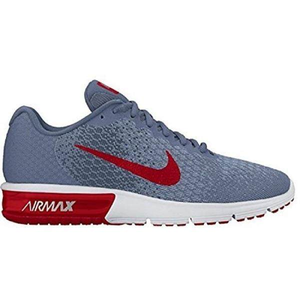 info for ebe8f 60762 NIKE Mens Air Max Sequent 2 Running Shoes, Ocean Fog University Red Squadron