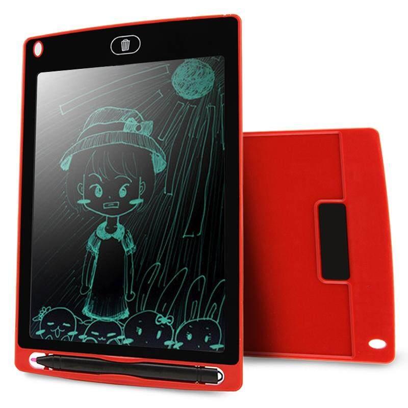 Chuyi Portabel 8.5 Inch LCD Menulis Tablet Menggambar Coretan Handwriting Elektronik Alas Pesan Papan Grafis Draft Kertas dengan Pena Menulis, CE/FCC/RoHS Sertifikat (Merah)-Internasional