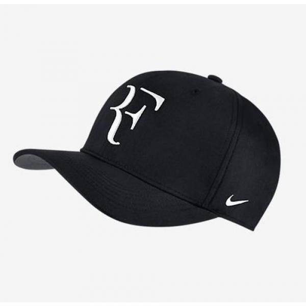 06aabe6a2d9 Nike Mens Roger Federer RF Classic 99 Aerobill Tennis Hat Black Flint Grey  White