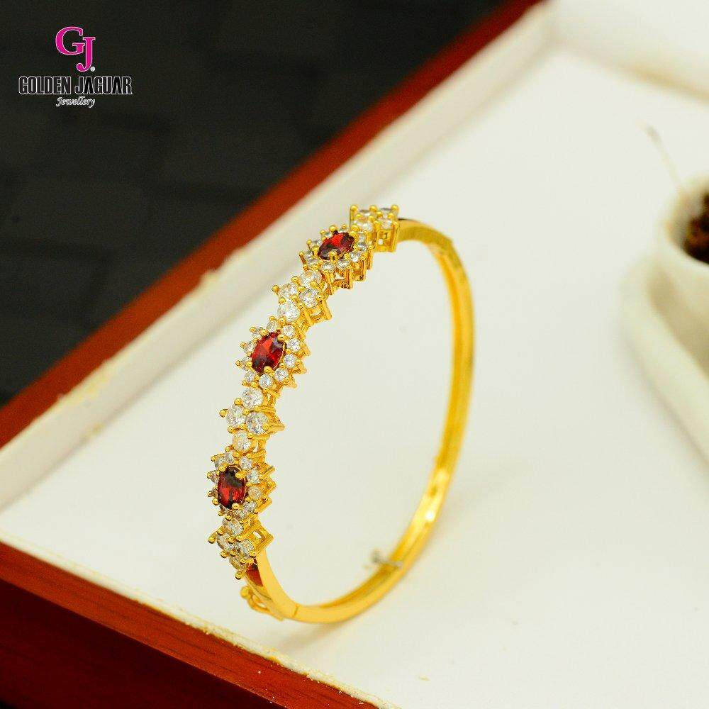Emas Korea Golden Jaguar Zirkon Bangle (GJJ-57615)