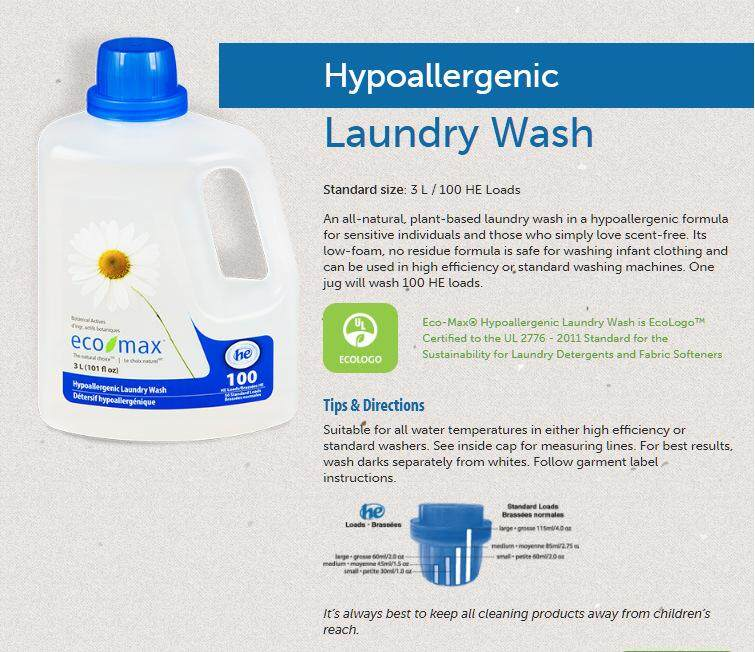 ECO-MAX Hypoallergenic Laundry Wash, 3L