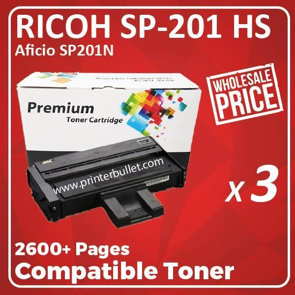 3 unit Ricoh SP200 / SP201 / SP204 / SP201n / SP201nw / SP203s / SP204sn / SP204sf / SP204sfn / SP204Sfnw / SP211 / SP213nw / SP211su / SP213snw / SP211sf / SP213sfnw Ricoh Aficio Compatible Laser Toner Cartridge