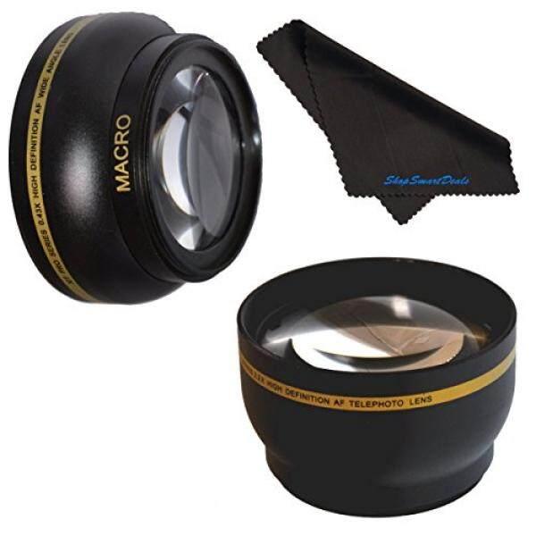 58mm HD 2.2x Telephoto & .43x Wide Angle Lens Bundle for Nikon AF-S DX Nikkor 55-300mm f/4.5-5.6G ED VR 2.2x 58mm Wide Angle Lens, 58mm Telephoto Lens, 58mm Lens, 58mm Lens Kit - intl