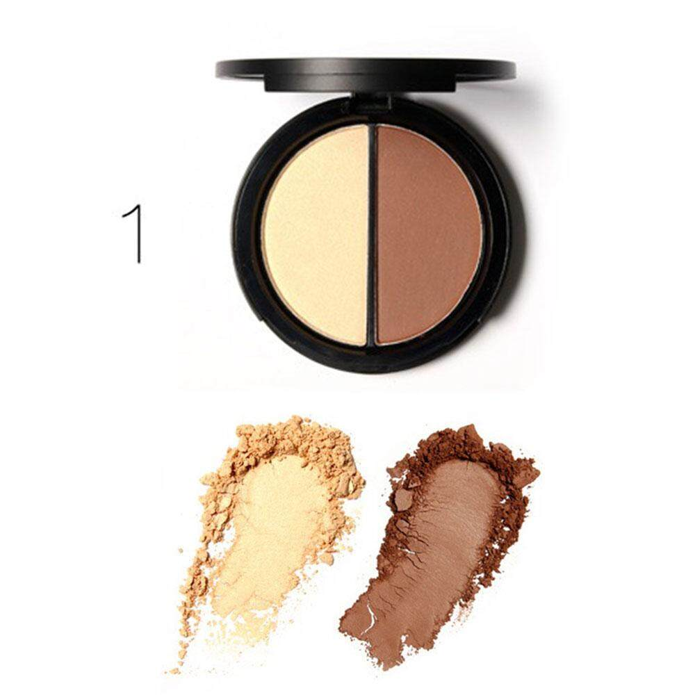 Focallure Professional Dual Colors Foundation Embellish Contour Highlighter Powder Makeup - intl