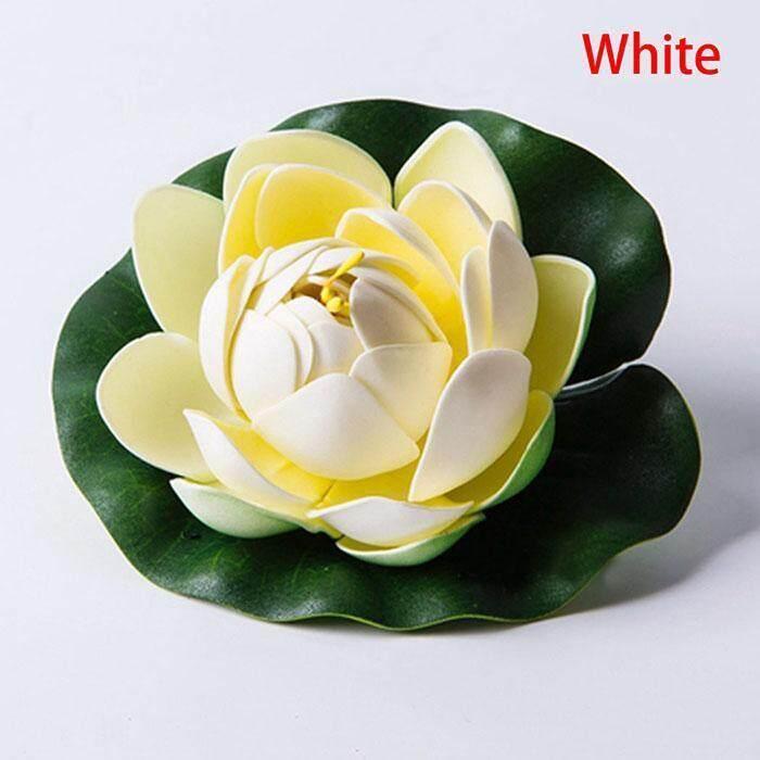 Toprank Plastik Bunga Teratai Artifisial Air Tanaman Lily Bunga Mengambang Rumah  Hiasan Kolam . a933496831
