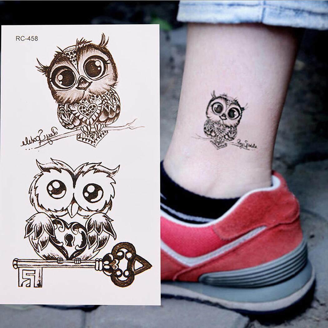 Toprank Baru Remaja Orang Pria Wanita Tahan Air Burung Hantu Berbentuk Stiker Tato Untuk Lengan Bahu Dada-Intl By Toprank Shop.