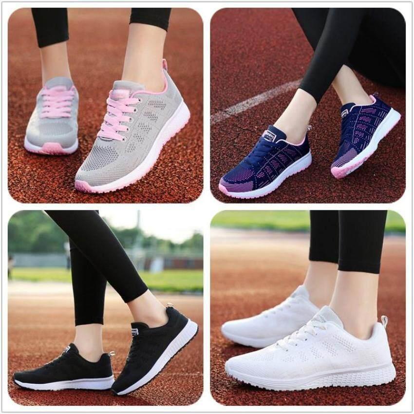 Zowie (Size 35-40) Mode untuk Wanita Sepatu Olahraga Bernapas Sepatu Lari Sepatu Kets Wanita Sepatu Kasual untuk Wanita