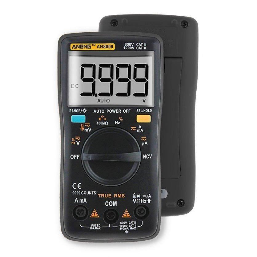 ANENG Tester Digital Multimeter AN8009 LCD Display Multimeter 9999 menghitung AC/DC