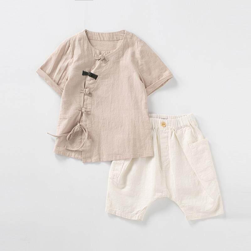 82f758f6a3f New Summer Cotton Retro Linen Children s Clothes Sets The Most Comfortable    Delicate Fabric Boys Short