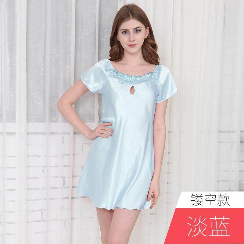 Sexy Womens Nightgowns Casual Chemise Lace Nightshirts Hollow Nightwear  Lingerie Nightdress Sleepwear 93bf02798