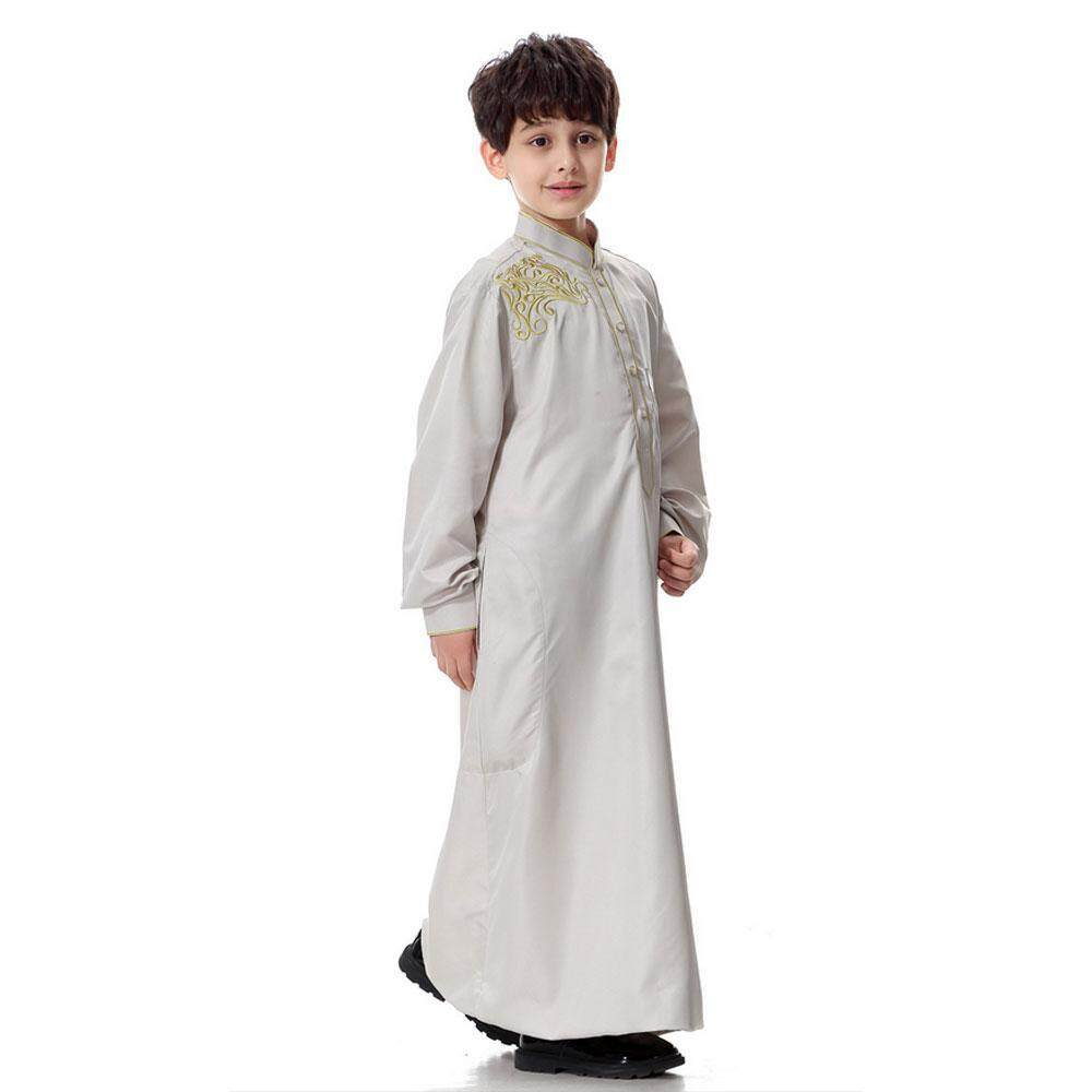 GoodGreat Long Sleeve Mock Neck Embroidered Middle East Arab Muslim  Children  s Robe - intl fa7fe9b0e